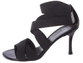 Stuart Weitzman Elastic Crossover Sandals