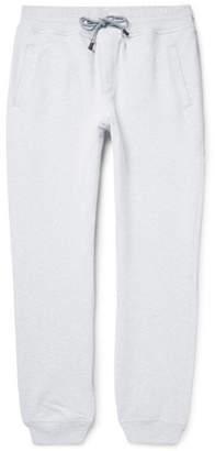 Brunello Cucinelli Fleece-Back Stretch-Cotton Jersey Sweatpants