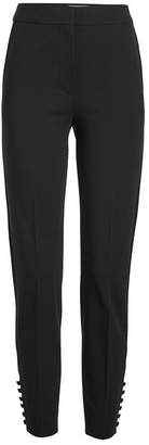 Max Mara Cropped Pants with Buttoned Ankles