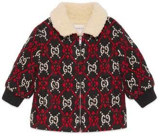 Gucci Baby GG diamond bomber jacket