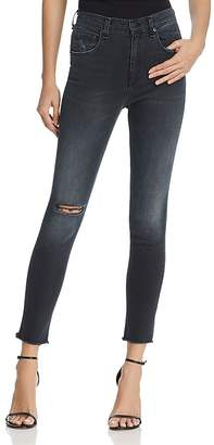 rag & bone/JEAN High Rise Skinny Raw Hem Jeans in Steele Hampton - 100% Exclusive