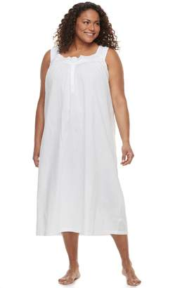 Croft & Barrow Plus Size Crochet Long Nightgown
