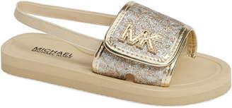 2a4bfe01eee7 MICHAEL Michael Kors Eli Seneca Glitter Sport Slide Sandal