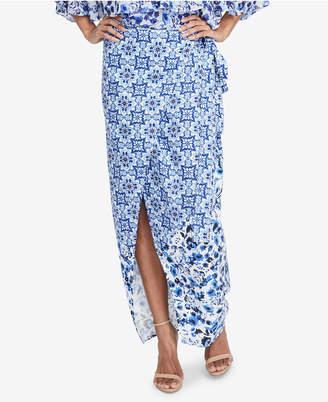 Rachel Roy Printed Wrap Skirt