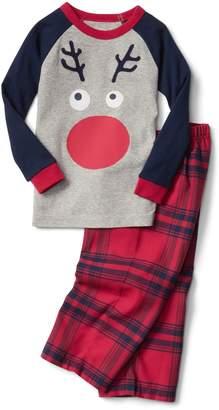 Gap Reindeer plaid flannel PJ set