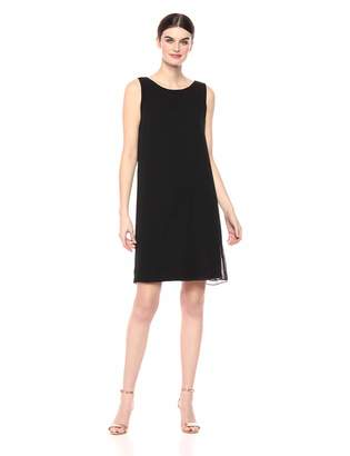 MSK Women's Trapeze Dress with Chain t-Back Detail