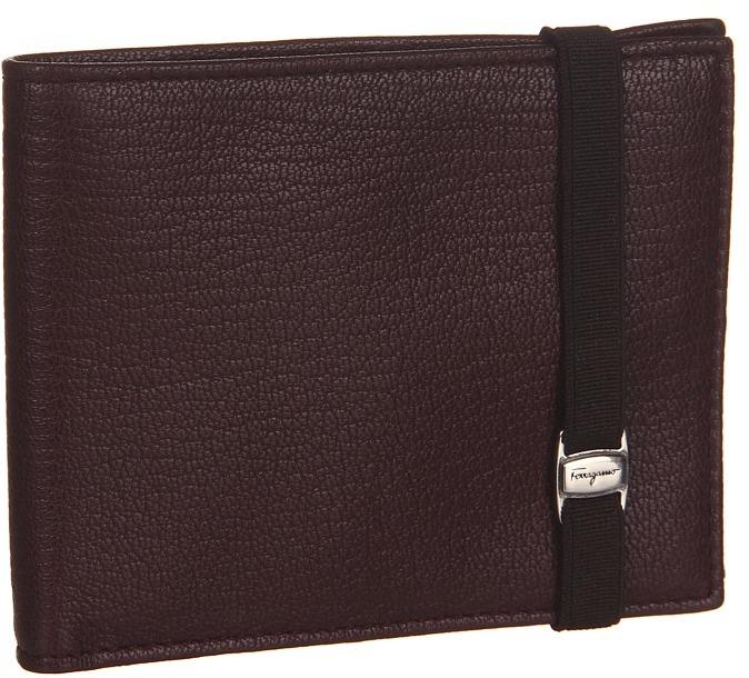 Salvatore Ferragamo Rave Portfolio Wallet (Mahogany) - Bags and Luggage