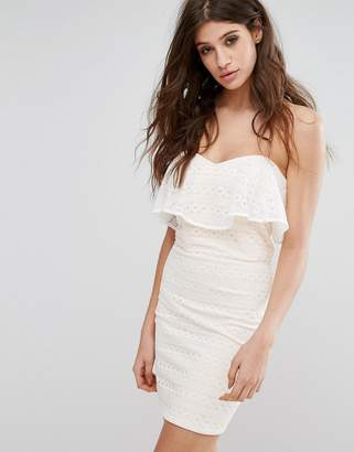 Miss Selfridge Lace Bandeau Mini Dress