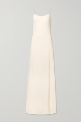 The Row Ebbins Crepe Maxi Dress - Cream