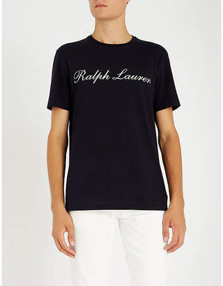 Ralph Lauren Purple Label Logo-printed cotton-jersey T-shirt
