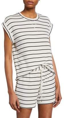 Splendid Striped Short-Sleeve Top