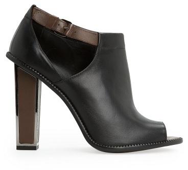 PeepToe Mango Outlet Peep-Toe Leather Ankle Boots