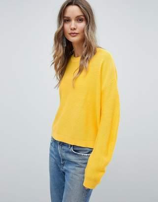 Asos Design DESIGN Sweater In Oversize In Ripple Stitch