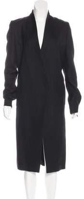 Maison Margiela Stand Collar Long Overcoat
