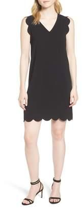 Cynthia Steffe CeCe by Scallop Edge Shift Dress