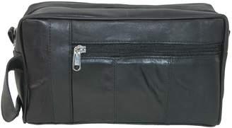 Leather Impressions Men's Leather Travel Shaving Kit