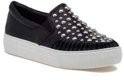 J/Slides AZT Studded Leather Sneakers