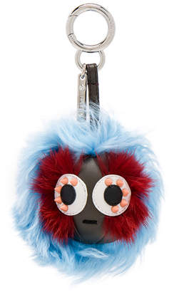 Fendi Mink & Alpaca Fur Mini Bag Bug Charm