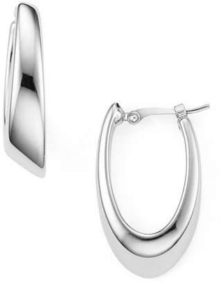 Bloomingdale's Sterling Silver Oval Hoop Earrings - 100% Exclusive