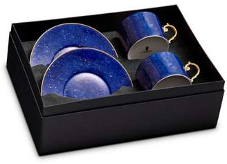 L'OBJET Lapis Teacup & Saucer, Set of 2