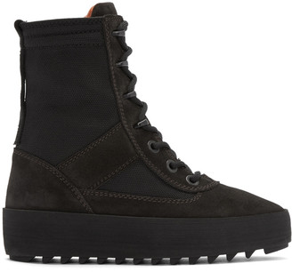 YEEZY Black Military Boots $645 thestylecure.com