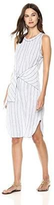 Three Dots Women's Linen Stripe Loose Long Dress