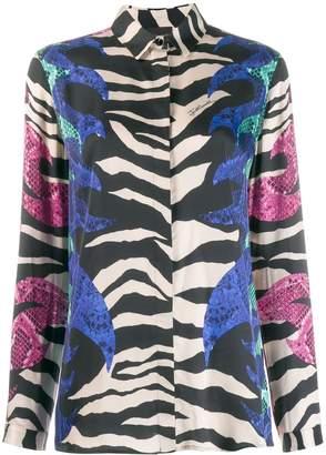 Just Cavalli zebra print shirt