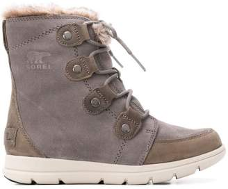 Sorel lined laced ankle boots