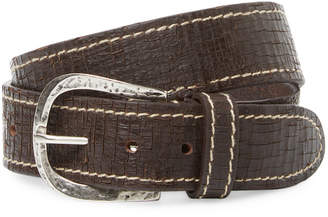 Berge Crackled Leather Belt