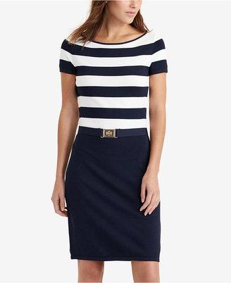 Lauren Ralph Lauren Striped Sweater Dress $170 thestylecure.com