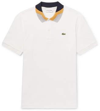 Lacoste Slim-Fit Colour-Block Cotton-Piqué Polo Shirt