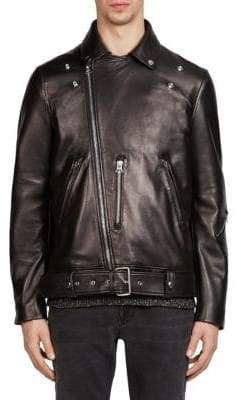 Acne Studios Nate Clean Leather Moto Jacket