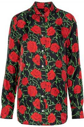 Alexander Wang Floral-print Silk-twill Shirt