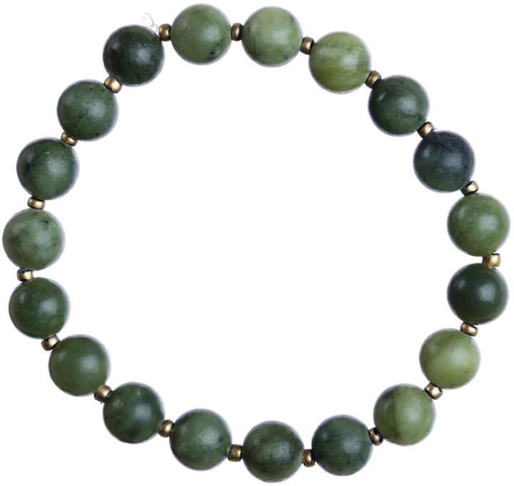 Reconstituted Jade Stretch Bracelet