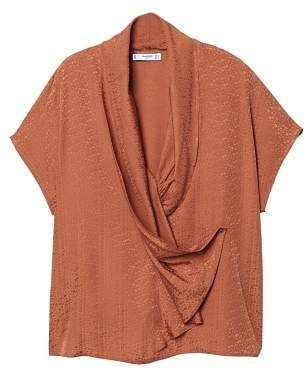 MANGO Draped blouse