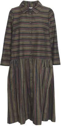 Mcverdi Long Multi-Striped Shirt Dress