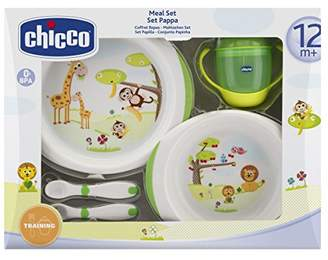 Chicco Meal Set 2013 6833000000 Set Consisting of Plates / Learner's Beaker / Learner's Cutlery / Suitable for Age 12 Months and Above