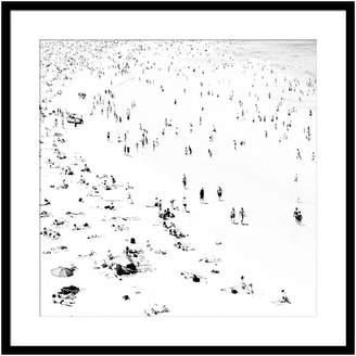 Casa Uno Little Bathers Square Framed Print
