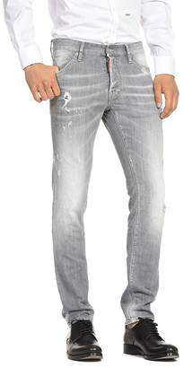 3817c1549e9 DSQUARED2 Distressed Cool Guy Slim Fit Jeans in Light Gray