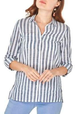 Dorothy Perkins Striped Button-Front Shirt
