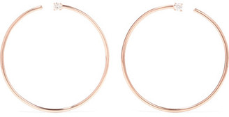 Anita Ko - Bardot 18-karat Rose Gold Diamond Hoop Earrings - one size $3,150 thestylecure.com