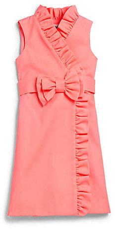 Milly Minis Girl's Ruffled Wrap Dress