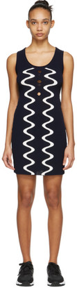 Opening Ceremony Navy Scuba Mini Dress