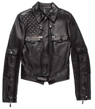 Christian Dior 2007 Leather Moto Jacket