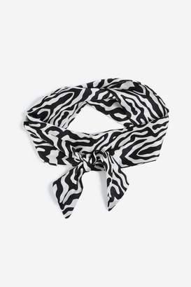 Topshop Zebra Print Head Scarf