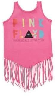 Rowdy Sprout Baby Girl's, Little Girl's& Girl's Pink Floyd Fringe Tank