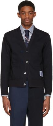 Thom Browne Navy Trompe L'Oeil Sport Coat Cardigan $1,090 thestylecure.com