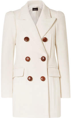 Isabel Marant Klea Double-breasted Cotton-blend Twill Coat - Ecru