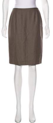 Lafayette 148 Wool & Silk-Blend Pencil Skirt