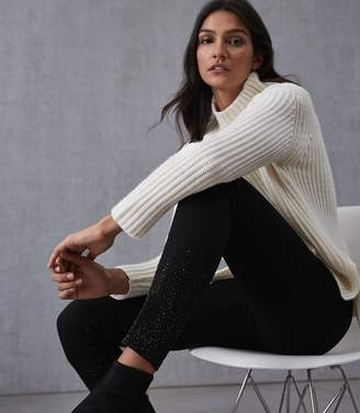 Reiss Lux Embellished Embellished Mid Rise Skinny Jeans